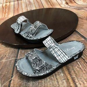Comfort ALEGRIA KARMEN Black Leather SANDALS 39